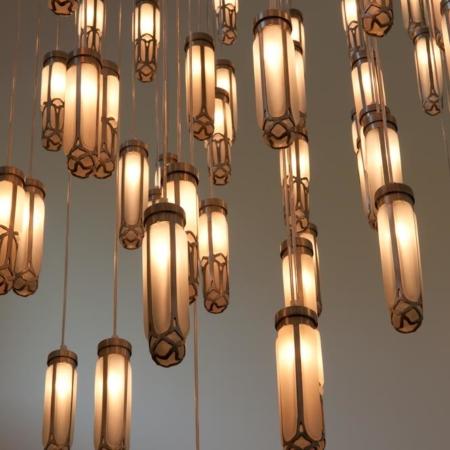 cluster hanglamp glas