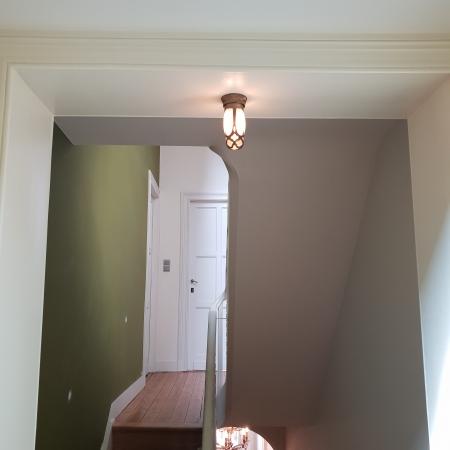 Plafonnier entrée maison bronze